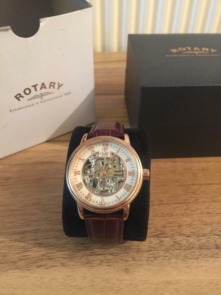 e65bf0b0b862 Men s rose gold automatic rotary watch. Leicester ...