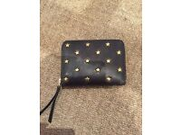 Leather fossil purse