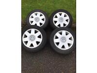 Vw polo or fox alloys 5stud 14 in 5x100 good condition ££££
