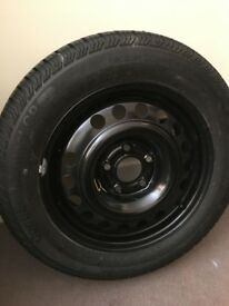 "new steel wheel with new tyre & new 15"" wheel trims & car polisher & rigger boots"