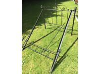 Lovely black ornamental metal bed frame