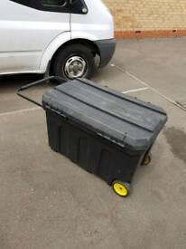 50 gallon Stanley toolbox/outside storage box