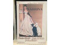 Sabrina Audrey Hepburn film / movie poster canvas