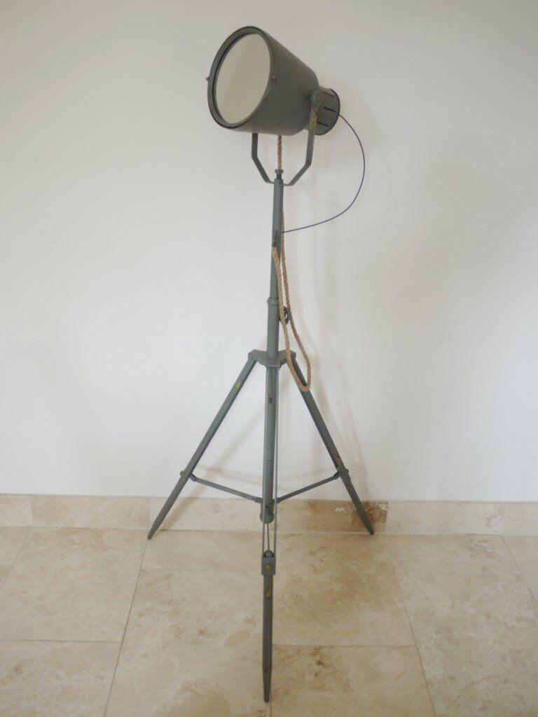 New Vintage Industrial Style Search Light Mirrorin HampshireGumtree - Vintage Industrial Style Search Light Mirror in a distressed finish. Max Height 170 cms Low Height 137 cms W 80cm D 80cm