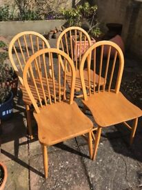 Ercol Windsor dining chairs, vintage 1960's, 4no
