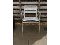 Aluminium garden furniture bistro chairs