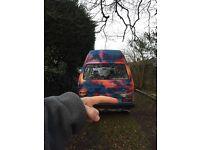 RARE VW t25 camper, multicoloured! Perfect project for festivals