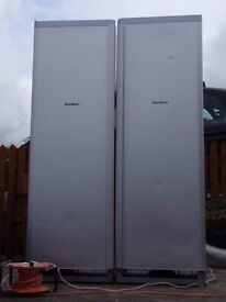 SCANDINOVA American Style 6ft FRIDGE & FREEZER UNITS used with some cosmetic marks