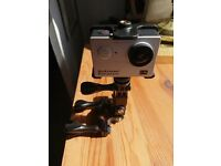 Motorbike camera with mount like new working perfect