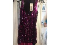 Brand new Jane Norman sequin top size 10