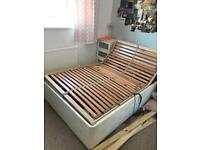 Small double motorised bed