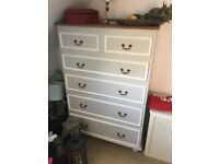 Gustavian style 6 drawer chest of drawers