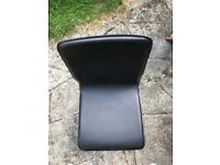 Faux Black Leather Slim Profile 4 X Dining Chairs