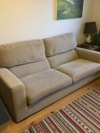 John Lewis sofa and matching footstool. Excellent condition.
