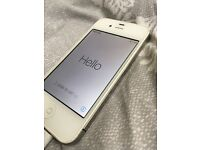 iPhone 4s White Unlocked Decent Condition with cable