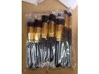 Wholesale joblot 10pcs kabuki make up brushes 50/100