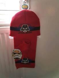 Star Wars Hat scarf and Glove set BNWT