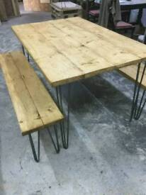 New Dining Table and Benches