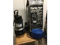 """Clarke 2"""" Industrial Submersible Water Pump. Model: HSE 240 with stainless steel drive shaft"""