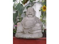 Large Very Heavy Stone 'Buddha' - Lovely Garden or Indoor Feature vgc.