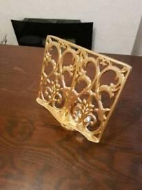Cast iron book/recipe stand