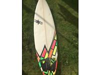 """5,11"""" DHD Short Board - 5 fin setup"""