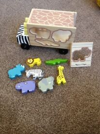 Melissa & Doug safari puzzle truck