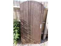 Wooden Garden Gate in Good Used Condition with Hinges
