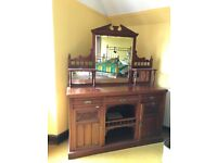Antique Victorian Mahogany Mirrored Sideboard (collection from ABOYNE)