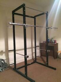 Squat Cage Rack!! Rarely used - owned 8 months - selling coz of moving!