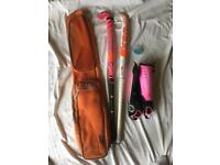 Hockey sticks, bag, shin pads & mouth guard(unused)