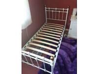 Bed single metal