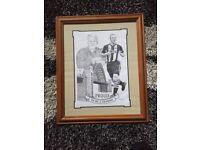 Framed drawing Bobby Robson/Shearer