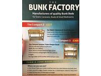 Bunk beds triple .(ideal for a caravan or small bedroom )