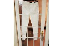 Ladies White Misguided Jeans