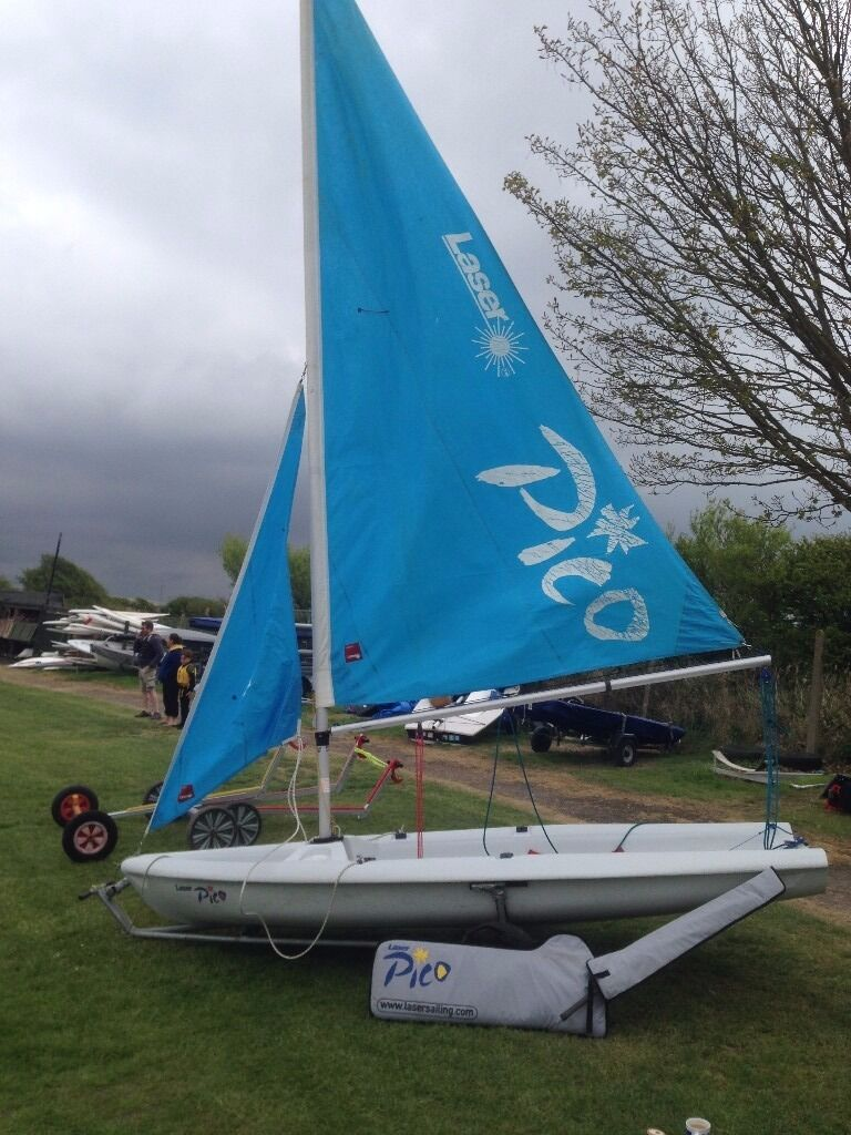 Laser Pico Sailing Dinghy Sail No 10758 Inc Launching