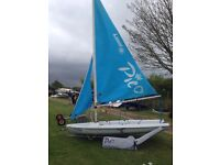 Laser Pico Sailing Dinghy (sail no. 10758) inc. launching trolley, PVC Polyester Cover & toe straps