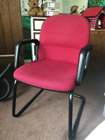 Office Chair / Computer Chair - Red Fabric