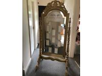 Stunning vintage mirror and stand used for wedding