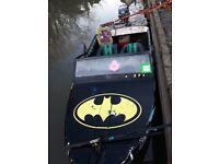 Batman speed boat 50 horsepower engine
