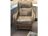 Cane furniture set (2 seater, single chairs x2 l, 3 tables, footstool) spare covers