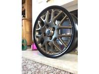 "Alloy wheels vw golf polo caddy ET45 RS772 15"" bbs split rims"