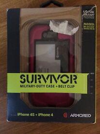 Griffin Survivor pink armoured iPhone 4/4s case