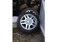 3 Volkswagen Golf mk4 alloy wheels with tyres