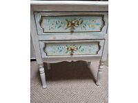 Hand painted cabinet / bedside table