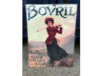 Metal tin sign. Golf. Bovril. BRAND NEW in wrapper.Great for Sports fans, golfers, Bovril drinkers!