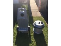 Aquaroll water carrier and waste water container.