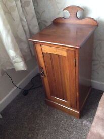 Antique bedside cabinet, solid mahogany, all original in very clean well looked after condition.