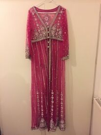 Pakistani hot pink gown