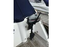 Dingy and small outboard motor